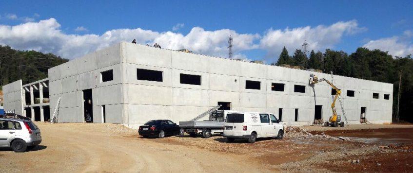 Novo skladišče v izgradnji